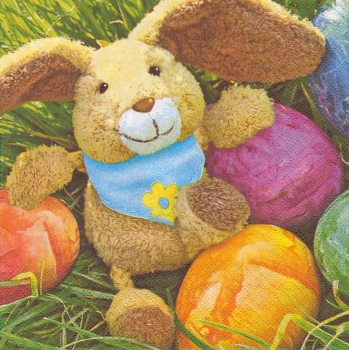 Ubrousek - zajíček s vajíčky (2 ks - VÝPRODEJ)