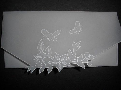 Obálka s motýlky