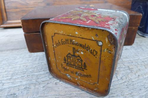 Joh. Gottl. Hauswaldt...starožitná plechovka