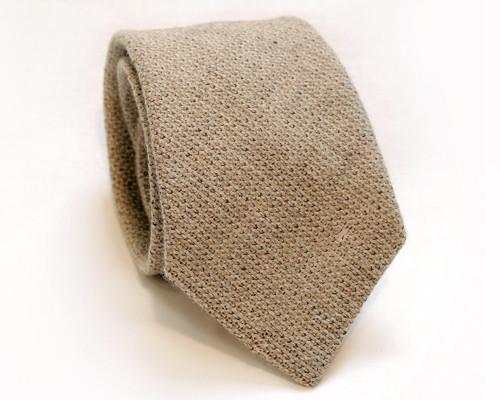 Vintage pánská kravata tkaná v barvě přírodní