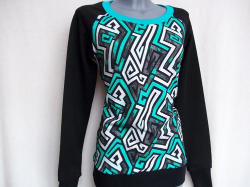 Dámská tričkomikina - Grafitty   vel. S, M, L, XL