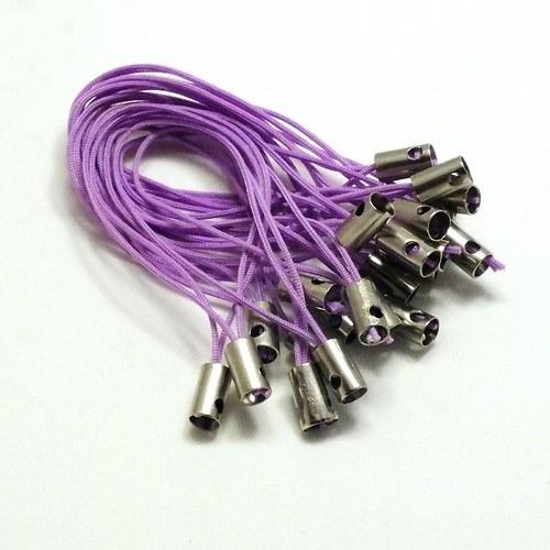 Světlejší  fialová poutka - 50 ks