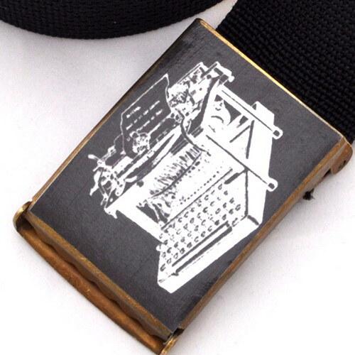 Opasek psací stroj - černá