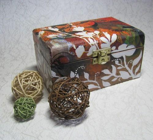 krabička na čaj LÍSTKY