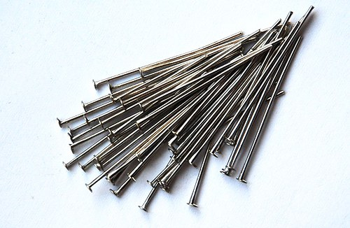 ketlovací nýtky 30mm platinové, 100ks