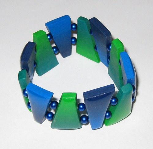 Modrozelený náramek