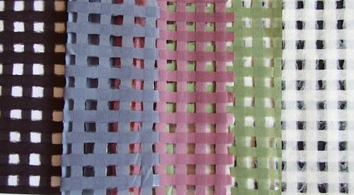 Japonský ruční papír mřížka - čtyři odstíny