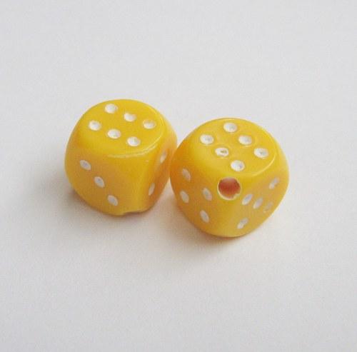 Korálky hrací kostky 5 ks   1 + 1 zdarma