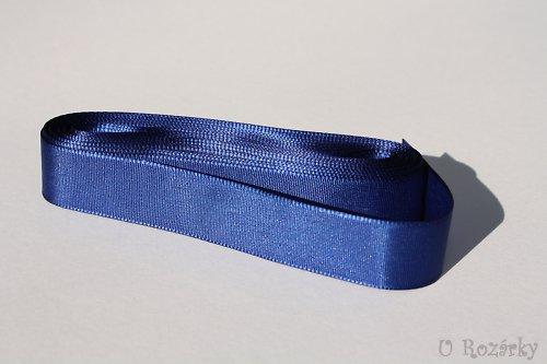Stuha taftová  šíře 20 mm - cena za 5 m! (modrá)