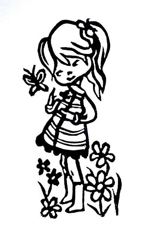 Dans les fleurs..., v květinách. Omyvatelné