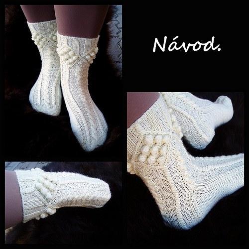 Návod na pletené ponožky s copánkovým vzorem.