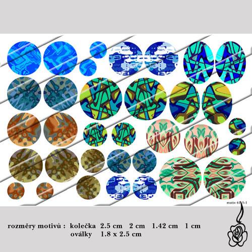 Motivy do pryskyřice - v přírodních barvách