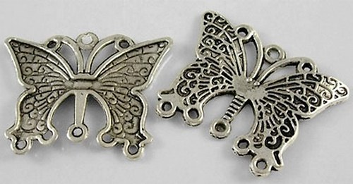 Motýl - přívěsek 2ks
