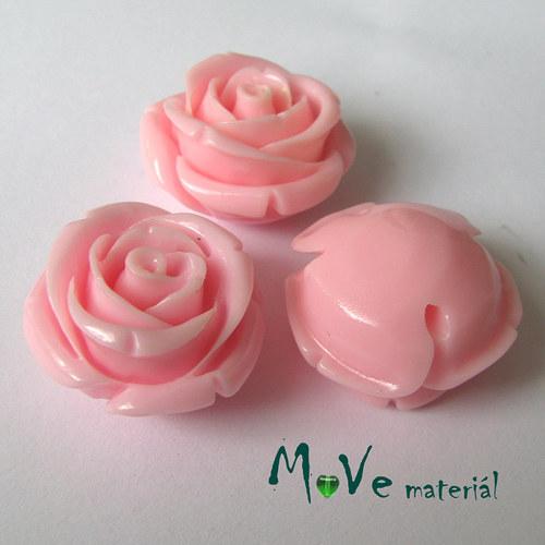 Resinový korálek RŮŽE, 1ks, růžová