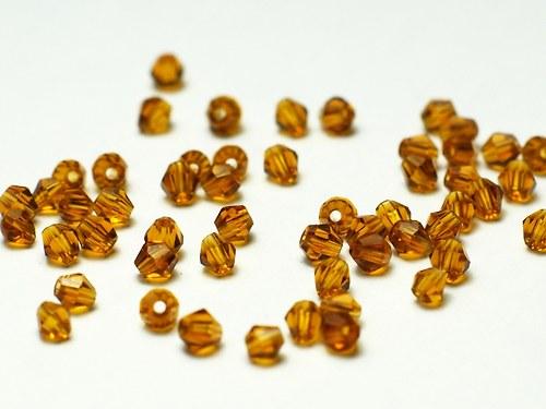 broušené korálky 3mm- šňůra