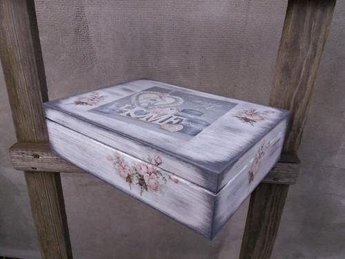 Čajová krabice Home růže