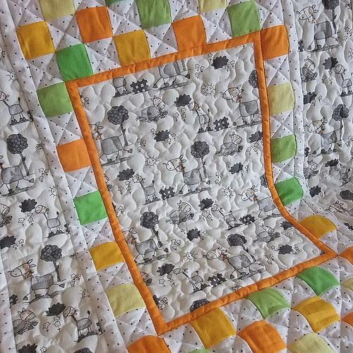 Dětská deka koníčková do oranžova