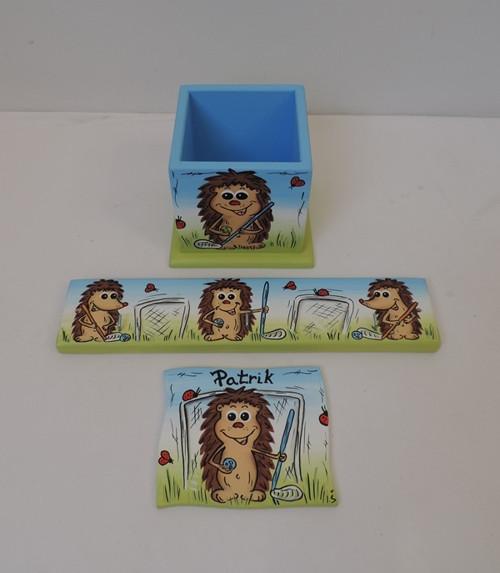 Věšáček pro děti-ježek