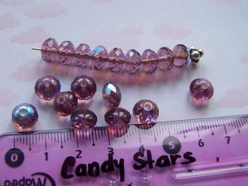 rondelky fialová pokov 10 ks
