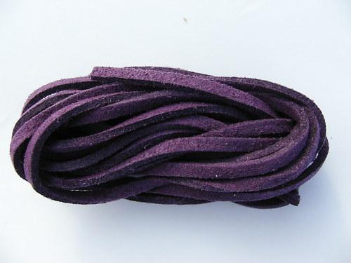 Imitace kůže, tmavě fialová 3 mm