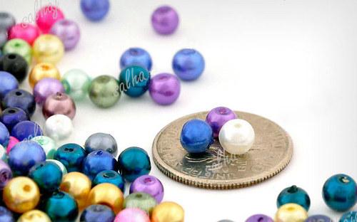 100Kusů perleťových korálků
