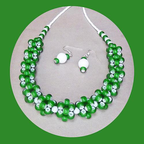 Zeleno-bílá sada