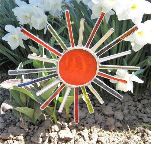 Sluníčko, vitráž - tiffany