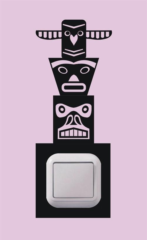 Samolepka k vypínači - Totem