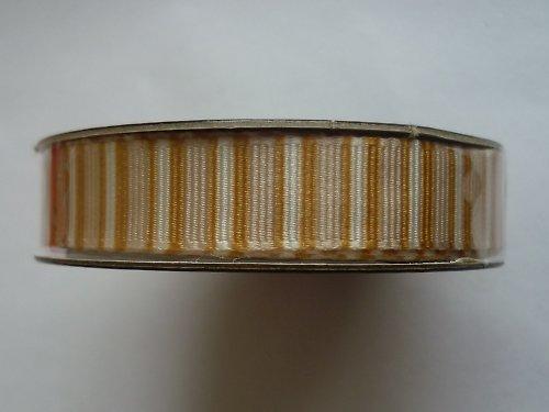 Stužka zlaté proužky - 1,5 m