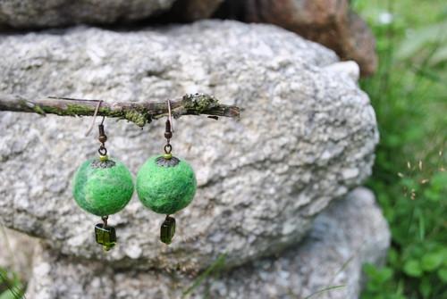 Plstěné zelené