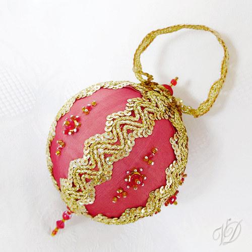Luxusní originální korálková vánoční ozdoba SO019