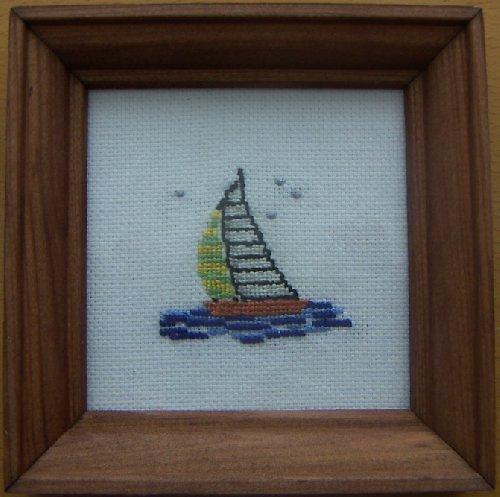 Vyšívaný obrázek - plachetnice
