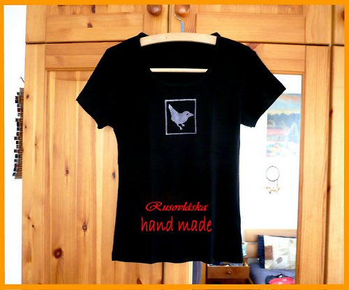 Tričko s ptáčkem M-L