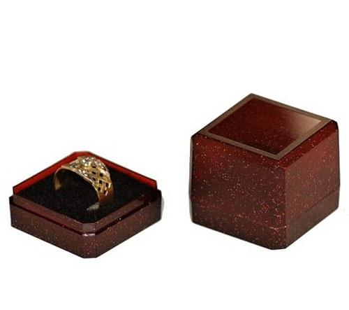Krabička na šperky hnědá s flitry vysoká