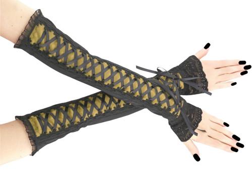 Společenské dámské rukavice gothic 0R8