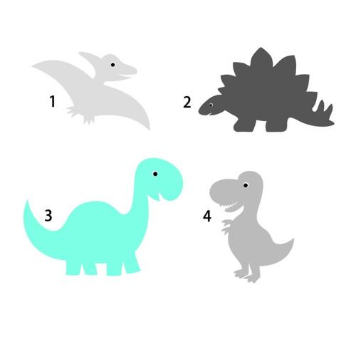 Samolepky dinosauři, 38 odstínů na výběr