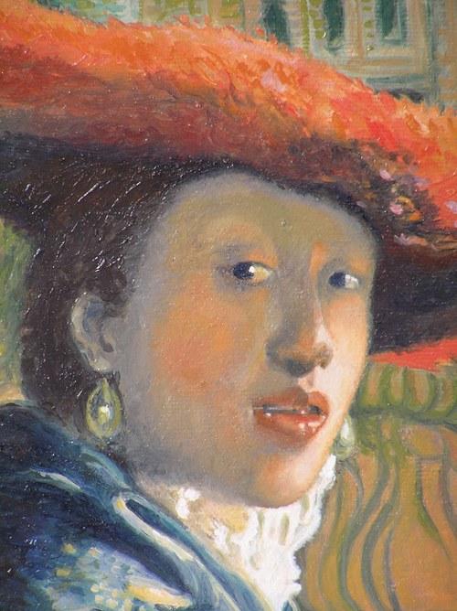 Dívka s červeným kloboukem (Vermeer)