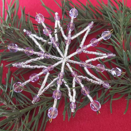 Vánoční hvězda šestnácticípá stříbrnofialková