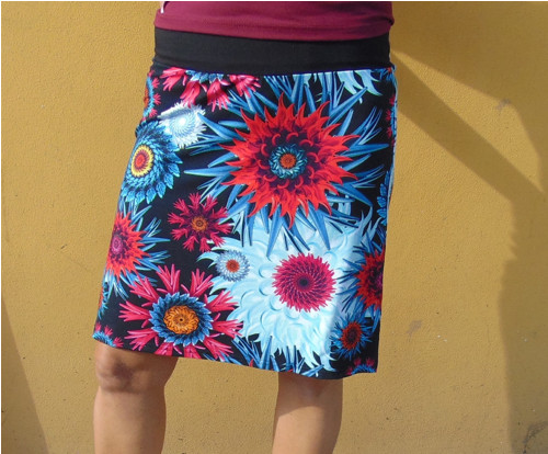 sukně dámská velký vzor