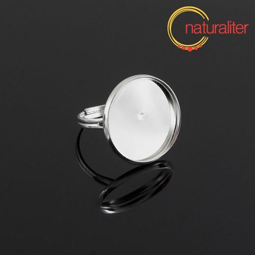 Základ na prsten s lůžkem 18mm stříbrná barva