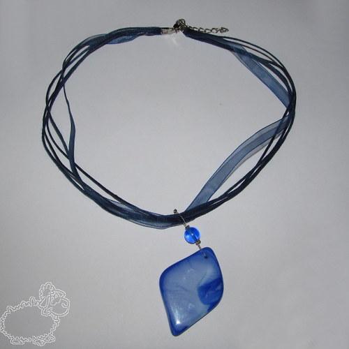 náhrdelník modré vábení