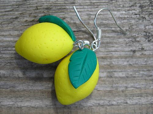 Citrony - náušnice velké