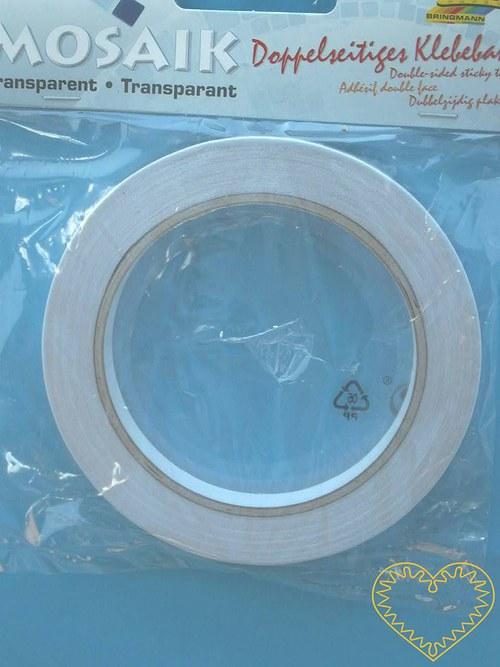 Oboustranná průhledná lepící páska š 10 mm, d 18 m