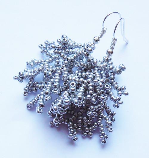 Korálkové větvičky stříbrné mini
