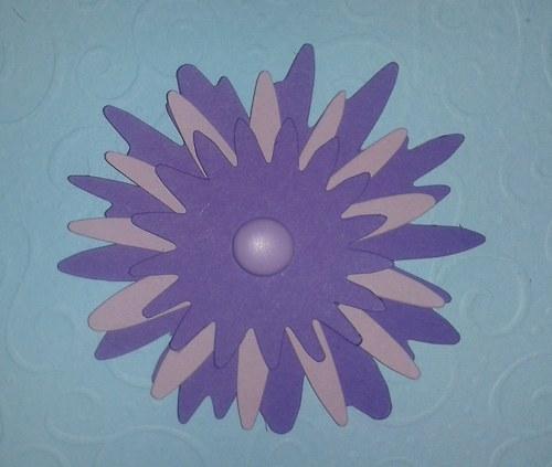 Skladaná kytička - fialová