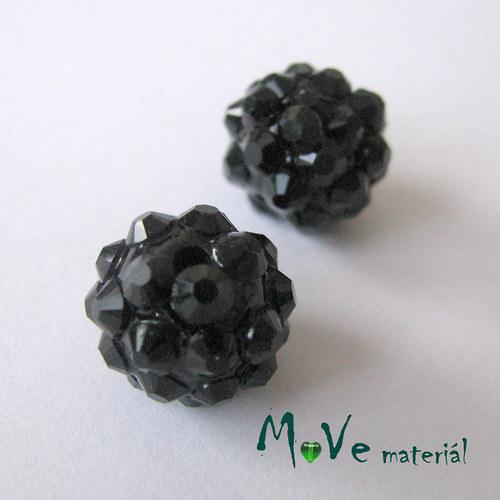 Pryskyřičný korálek - kulička 12x10mm,1ks, černý
