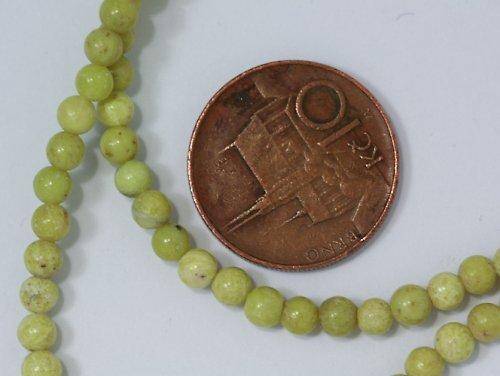 Světle zelený jaspis - 4 mm, 5 ks