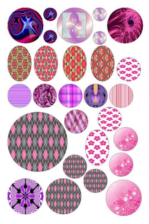 růžovo a fialovo