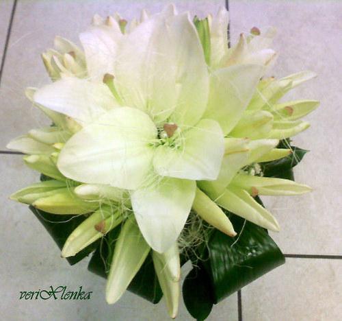 svatební kytice- lilie