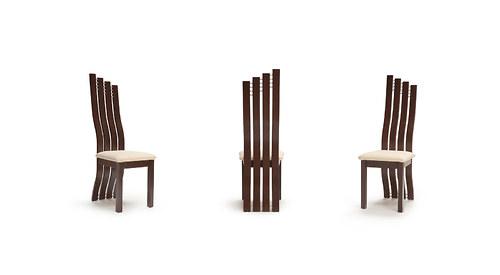 Židle ergonomicky ohýbané wenge